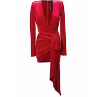 Alexandre Vauthier Vestido Com Decote V - Vermelho