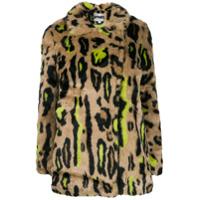 Apparis Neon Leopard Faux-Fur Jacket - Neutro