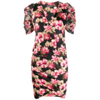 So Allure Vestido Slim Com Estampa Floral - Preto