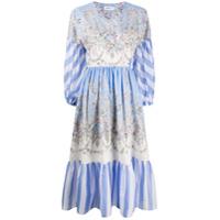 Liberty London Vestido Envelope Octavie Hilary - Azul