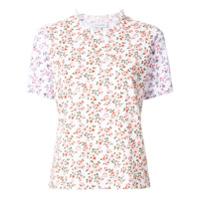 Ck Calvin Klein Camiseta Com Estampa Floral - Branco