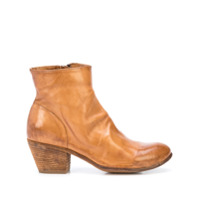 Officine Creative Ankle Boot Giselle De Couro - Marrom