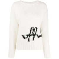 Off-White Suéter Decote Careca Com Logo - Neutro
