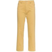 Jacquemus Calça Jeans Cintura Alta Cropped - Marrom