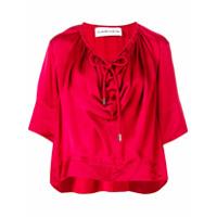Carven Camiseta Com Cordão - Vermelho
