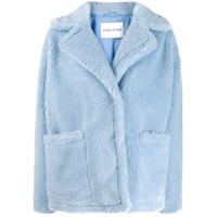 Stand Oversized Faux Fur Jacket - Azul