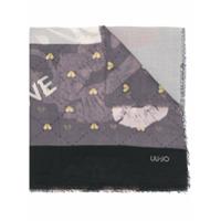 Liu Jo Echarpe Com Mix De Estampas - Cinza