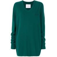 Pushbutton Suéter Com Detalhe De Bordado - Green