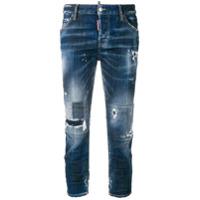 Dsquared2 Calça Jeans Cropped - Azul