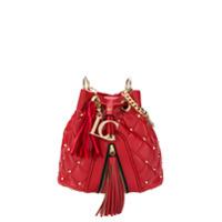 La Carrie Diamond Quilt Bucket Bag - Vermelho