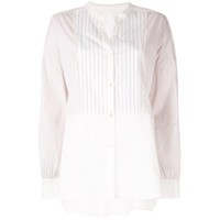 Frei Ea Striped Mandarin Collar Shirt - Branco