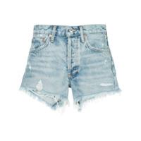 Agolde Short Jeans Destroyed 'parker' - Azul