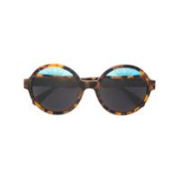 Italia Independent Óculos De Sol Armação Redonda - Marrom
