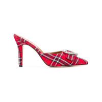 Paris Texas Sapato Mule Xadrez - Vermelho