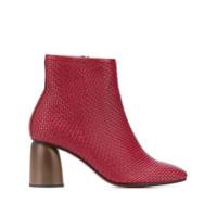 Souliers Martinez Ankle Boot Pilar Trançada - Vermelho