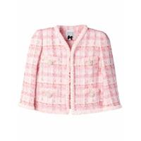 Edward Achour Paris Jaqueta Cropped De Tweed - Rosa