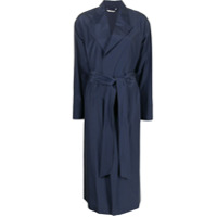 Colombo Trench Coat Com Cinto - Azul
