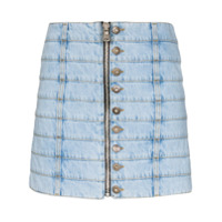 Faith Connexion Minissaia Jeans Com Recortes - Azul