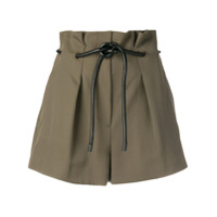 3.1 Phillip Lim Origami Pleated Shorts - Green