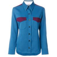 Calvin Klein 205W39Nyc Camisa Com Contraste - Azul