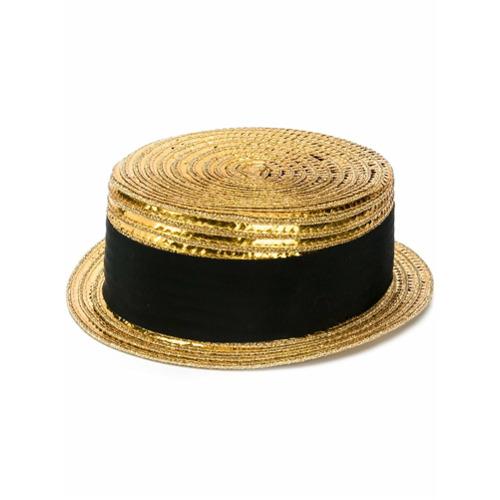 Saint Laurent Chapéu pequeno - Dourado