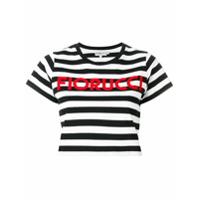 Fiorucci Camiseta Cropped Listrada - Preto
