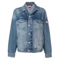 Tommy Jeans Jaqueta jeans com efeito desbotado - Azul