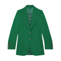 Gucci Blazer Com Lapelas - Verde