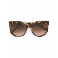 Alexander Mcqueen Eyewear Óculos De Sol De Armação Redonda - Marrom