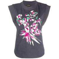 Isabel Marant Embroidered Sleeveless T-Shirt - Cinza
