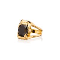 Maria Nilsdotter Anel Jaw Stone De Prata Banhada A Ouro Com Espinela - Metálico