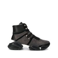 Tosca Blu Embellished High Top Sneakers - Preto
