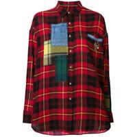 Ermanno Scervino Camisa Xadrez - Vermelho