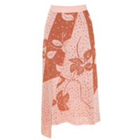 Gig Saia Midi Transpassada Floral - Rosa