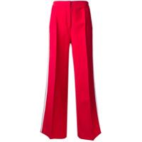 Fendi Calça Flare Com Contraste - Vermelho