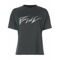 Anine Bing Logo Patch T-Shirt - Preto