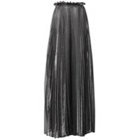 Atu Body Couture Pleated Maxi Skirt - Prateado