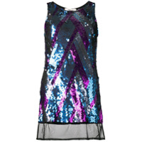 Circus Hotel Sequined Tank Top - Azul