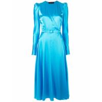Anna October Vestido Midi Estruturado - Azul