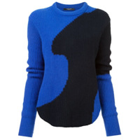 Derek Lam Suéter De Cashmere Canelado Color Block - Azul