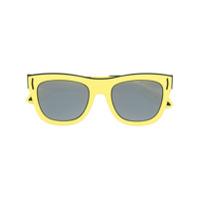Givenchy Eyewear Óculos De Sol Quadrado - Amarelo