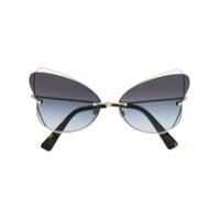 Valentino Eyewear Óculos De Sol Borboleta - Dourado