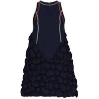 Angel Chen Vestido Com Textura Bolhas - Azul