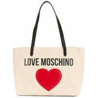 Love Moschino Bolsa Tote Com Logo - Neutro