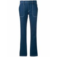 Chloé Calça Jeans Com Costuras Contrastantes - Azul