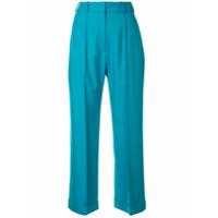 Racil Calça Cropped Cintura Alta - Azul