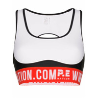 P.e Nation Top Esportivo Domain Com Logo - Branco