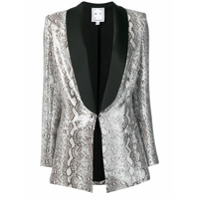In The Mood For Love Blazer Edith Com Animal Print - Cinza