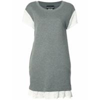 Boutique Moschino Vestido Com Detalhe De Renda - Cinza
