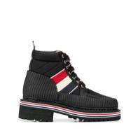 Thom Browne Ankle Boot Militar - Preto